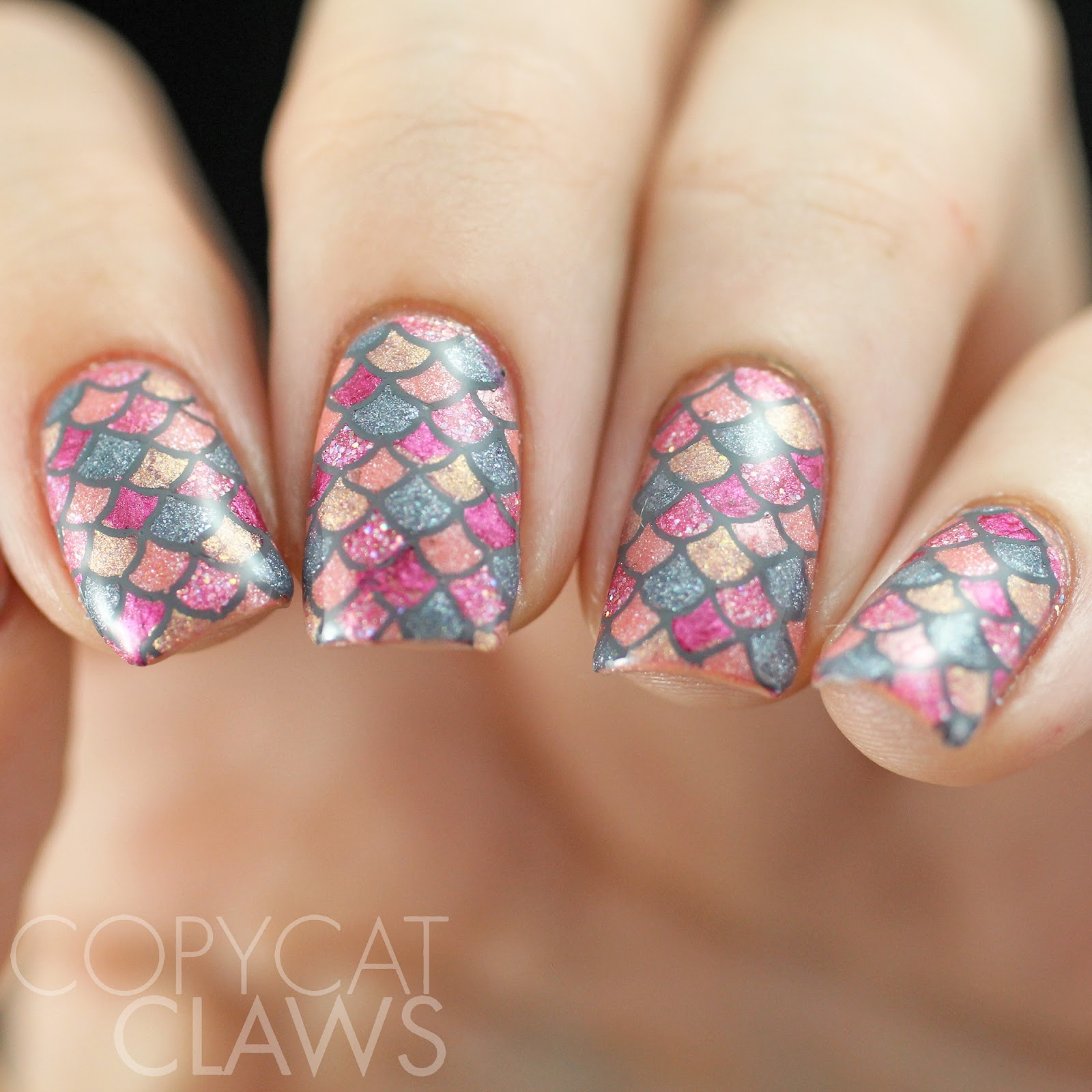 Copycat Claws 40 Great Nail Art Ideas Grey Color