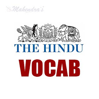 The Hindu Vocabulary For IBPS Clerk Mains | 18 - 01 - 18