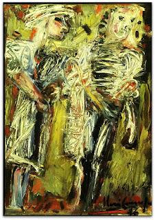 Iberê Camargo - Mulheres (1985) - óleo sobre tela
