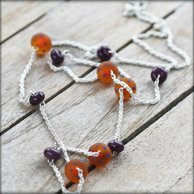 Lampwork necklace by Designs By Jojo