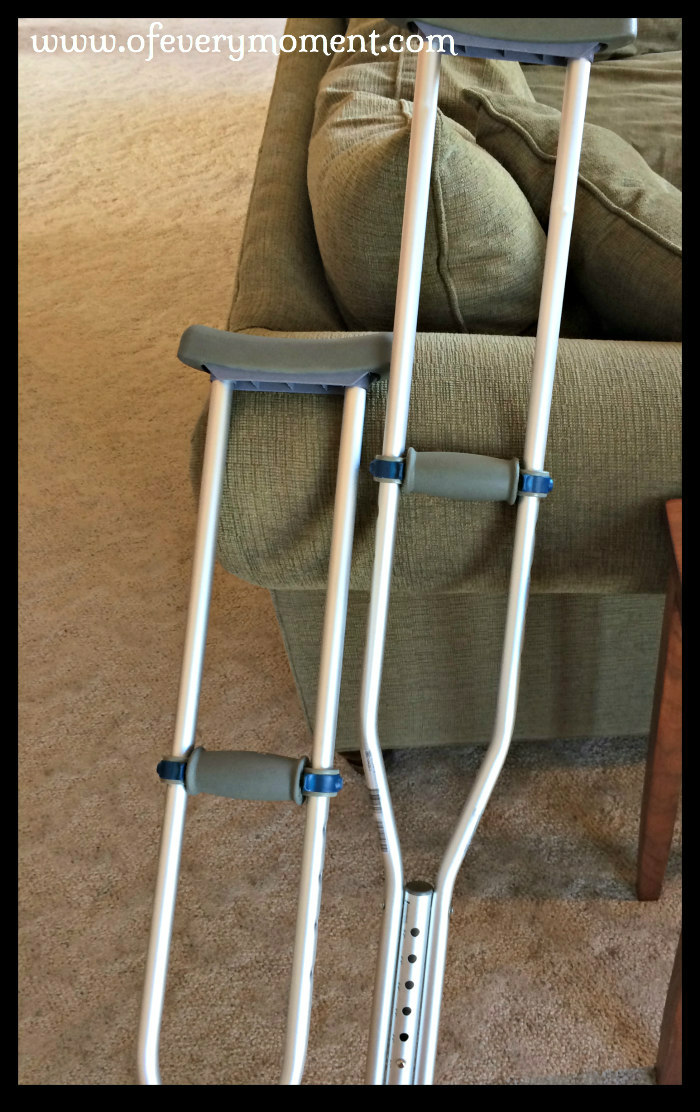 a pair of crutches