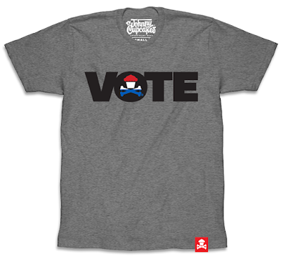 "Johnny Cupcakes ""Vote"" T-Shirt"