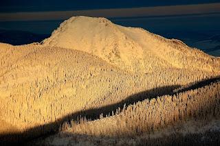 szlak na Wołowiec zimą
