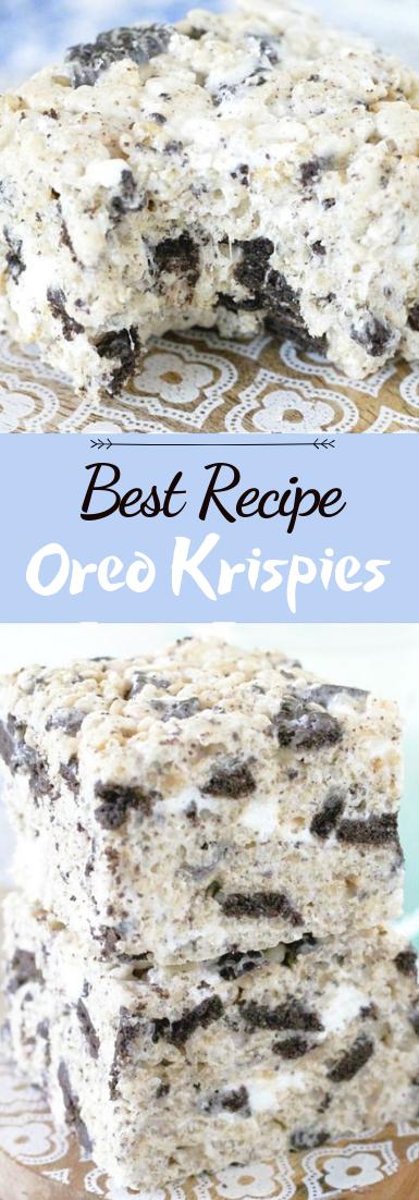 Oreo Krispies #desserts #cakerecipe