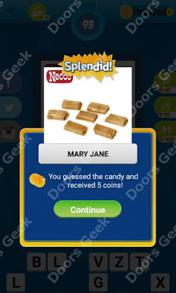 Answers, Cheats, Solutions for Guess the Candy Level 93 for android and iphone
