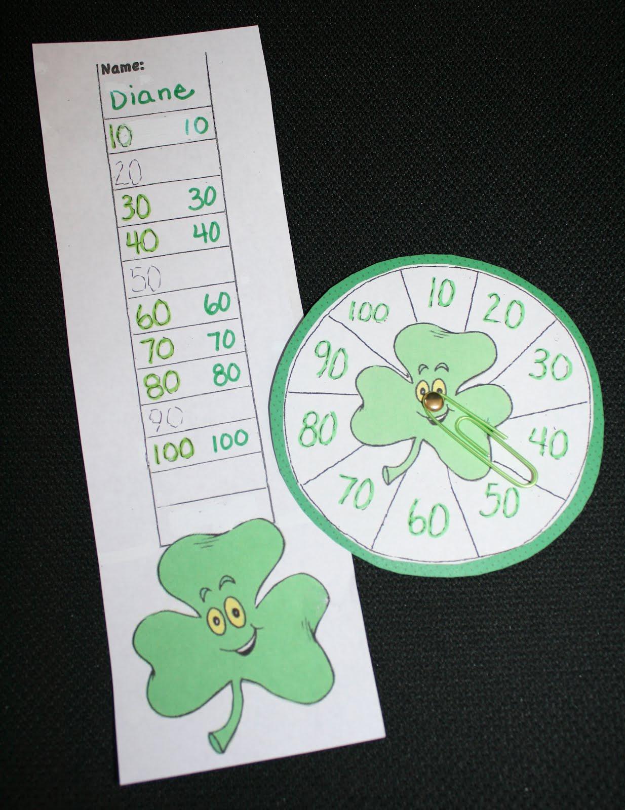 Classroom Freebies Too Pk 2 Shamrock Skip Counting Game