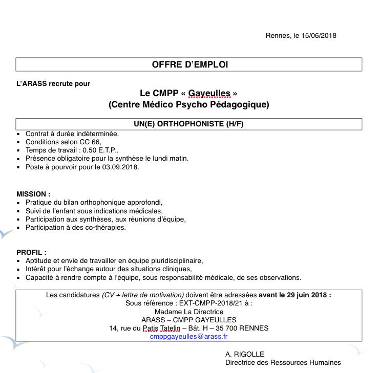 Site De La Fof Bretagne Annonces Offres Et Demandes D Emploi