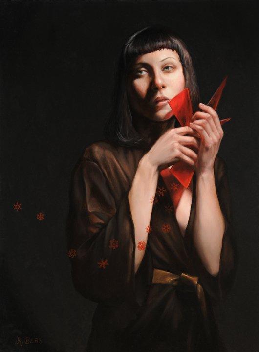 Rachel Bess pinturas realistas mulheres misteriosas bruxas modernas góticas