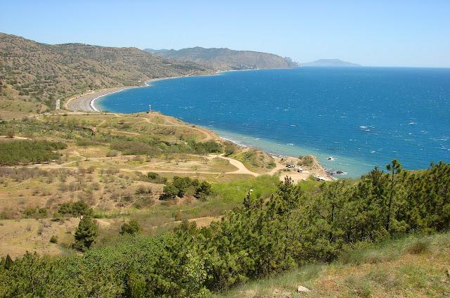 Вид на море с мыса Чобан-Куле