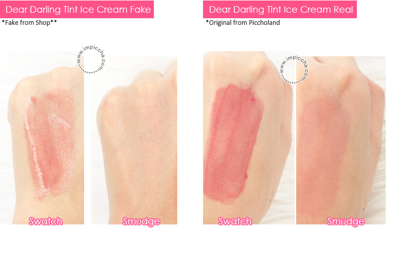 Etude Dear Darling Tint Ice Cream - Fake vs Real