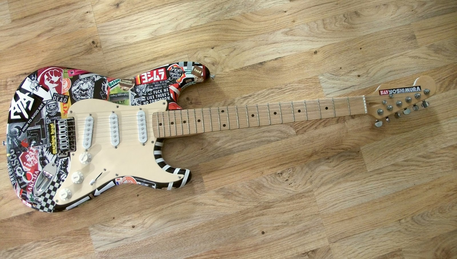 Stickered Stratocaster