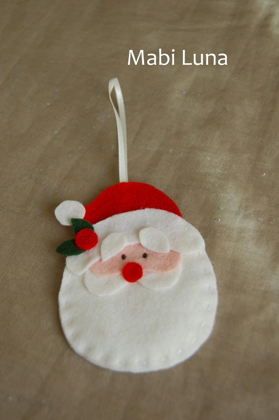 Mabi luna rbol de navidad de fieltro manualidades f ciles para ni os - Manualidades en fieltro para navidad ...