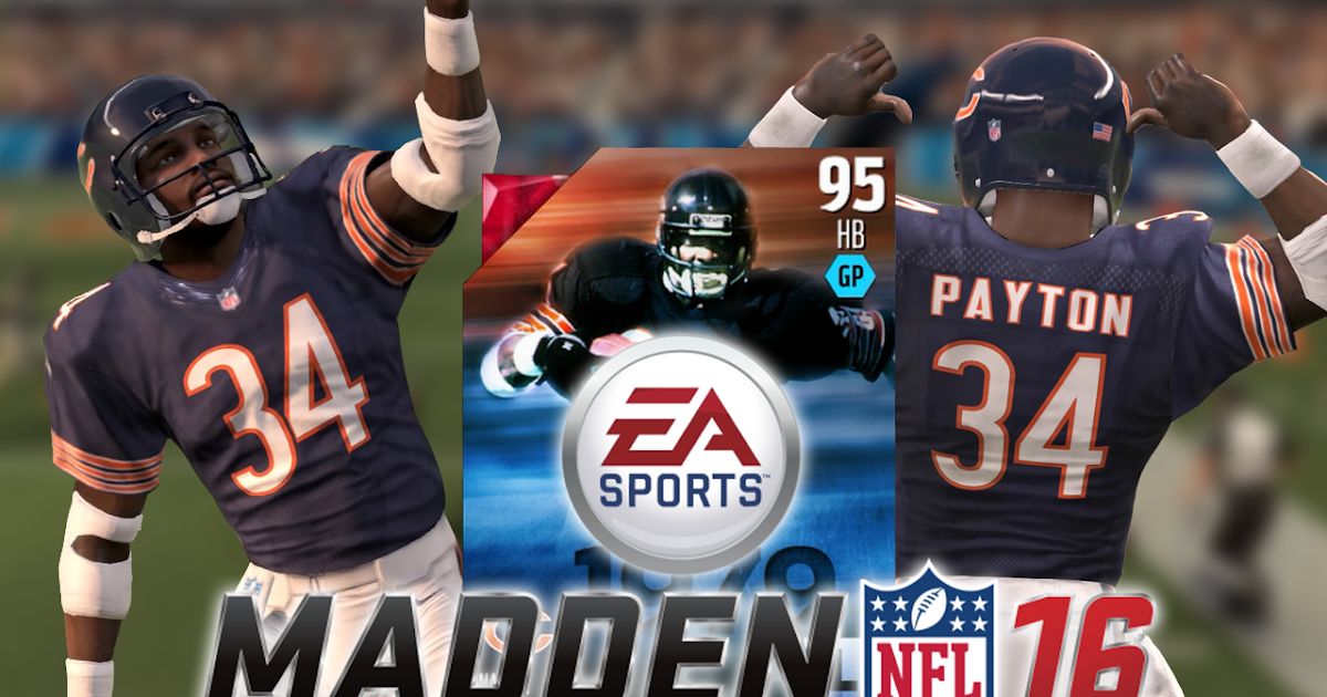 Is he cheating or is it eamaddennfl 95 ovr legend walter payton mut 16 ep 15 blerds online - Walter payton madden 15 ...