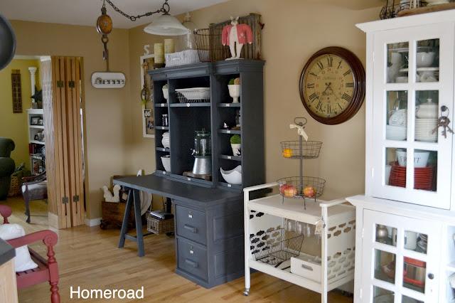 Dining area with DIY desk area