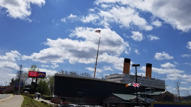 Outside view of the Titanic Exhibit