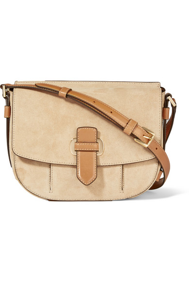 satchel michael michael kors romey suede bag now half price