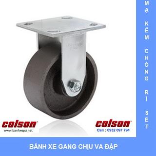 Bánh xe gang xám bánh xe đẩy chịu tải (410~450kg) banhxepu.net