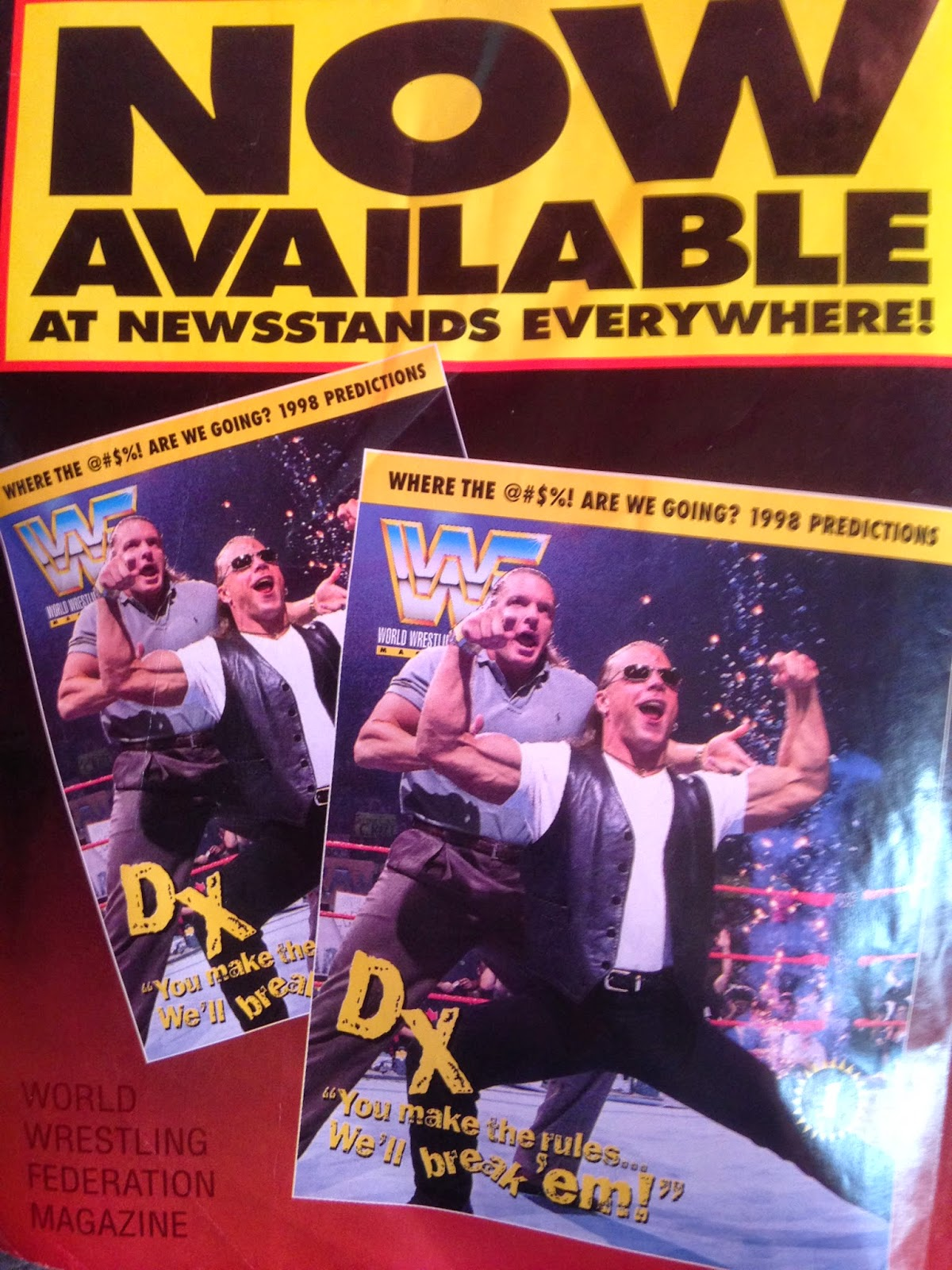 WWF Raw Magazine - January 1998 - DX magazine ad