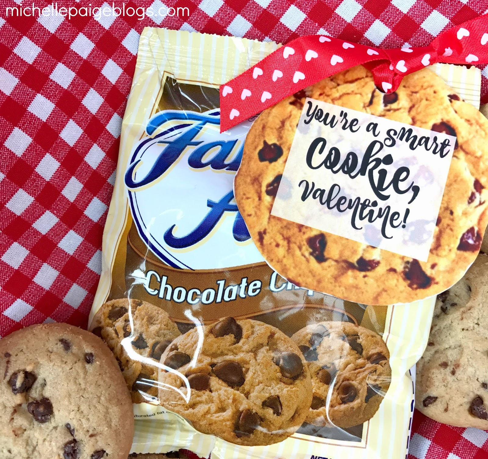 Michelle Paige Blogs Chocolate Chip Cookie Valentines