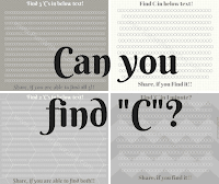 Can you find hidden C? Picture Riddles