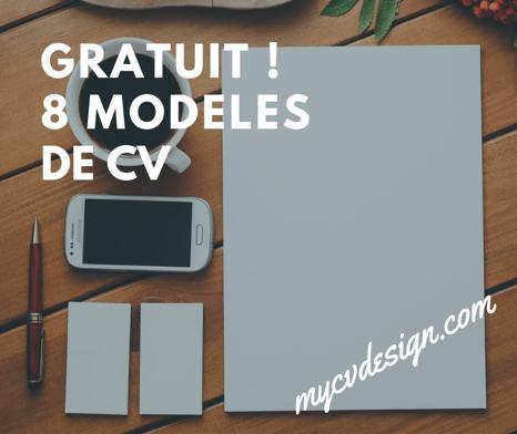 My Cv Design Gratuit 8 Modeles De Cv à Télécharger