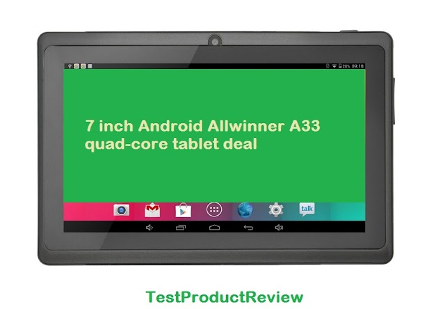 7 inch Android Allwinner A33 quad-core tablet deal