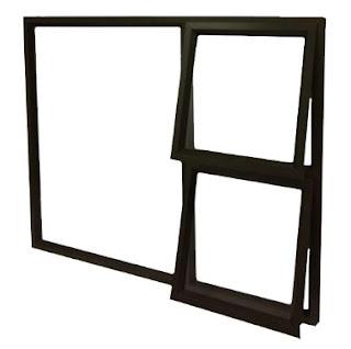 Kombinasi Jendela Aluminium Jungkit dan Jendela Kaca Mati