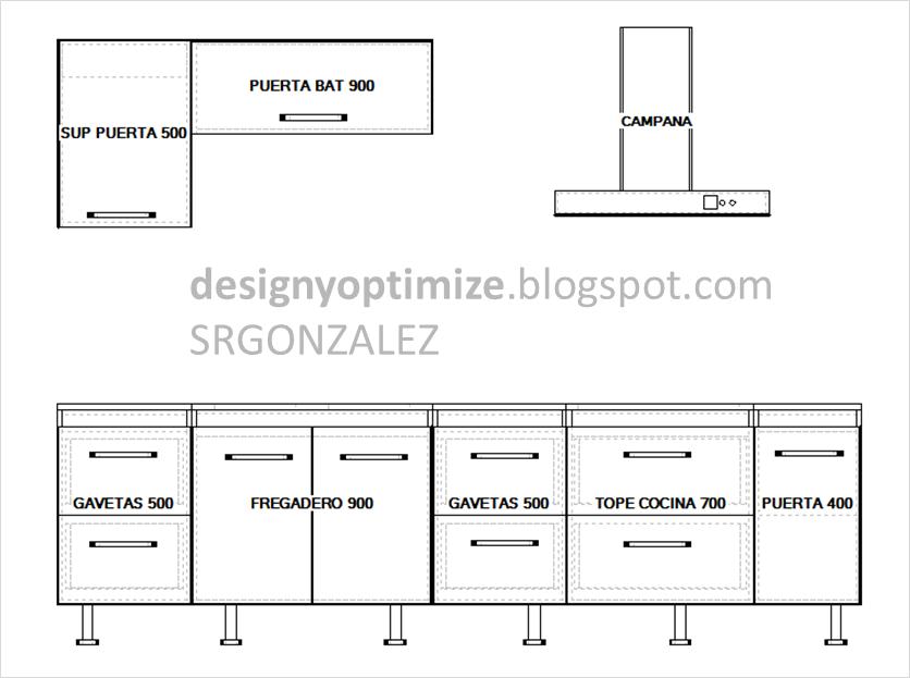 Dise o de muebles madera c mo fabricar muebles de cocina for Como hacer un plano de una cocina