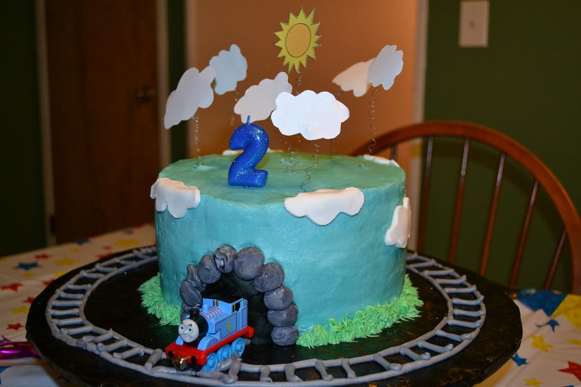 & Kitchen Bliss: An Easy Thomas The Train Birthday Cake