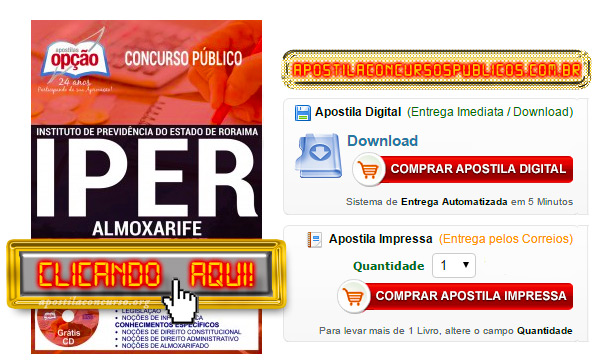 Apostila Concurso IPER 2017 PDF Download Almoxarife