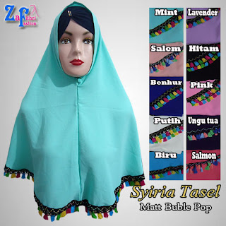 Khimar Buble Pop Non Pet Tasel Terkini