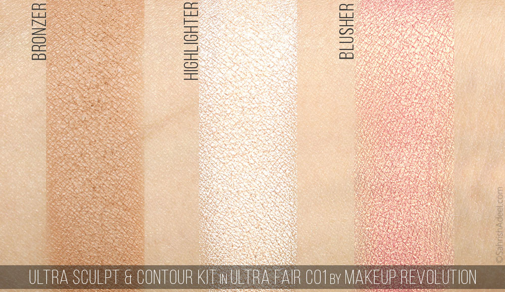 Ultra Sculpt & Contour Kit by Makeup Revolution - Review & Swatches