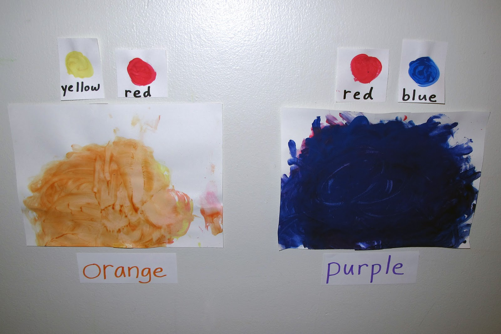 I Later Hung Each Color He Made With The Colors It Took To Make Above Painting And Name Of Created Written Below