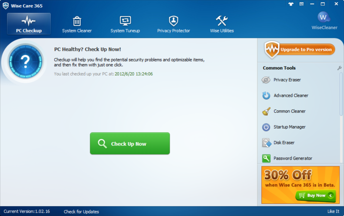Use Wise Care 365 Pro and protect your PC!