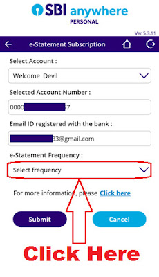 how to get monthly e statement in sbi bank