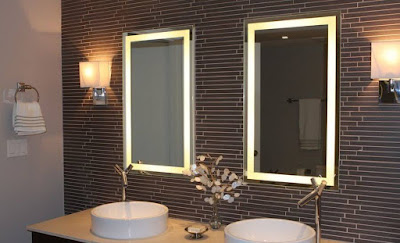 Bathroom Double Mirrors with Lights