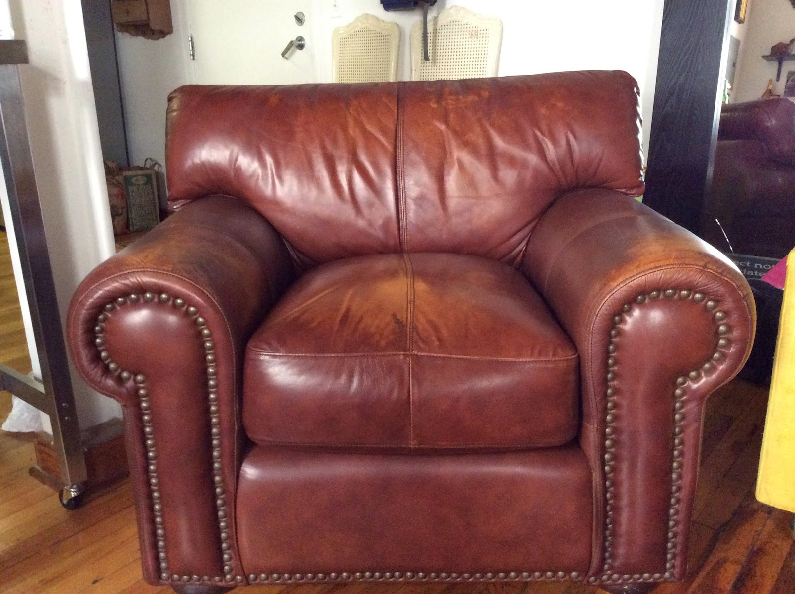 robinson and leather sofa sectional sofas with a chaise lounge revamp brown cigar chair by