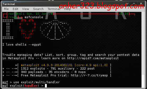use exploit/multi/handler