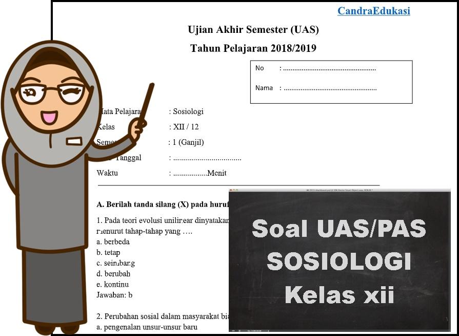 Contoh Soal Dan Jawaban Sosiologi Kelas 12 Semester 1