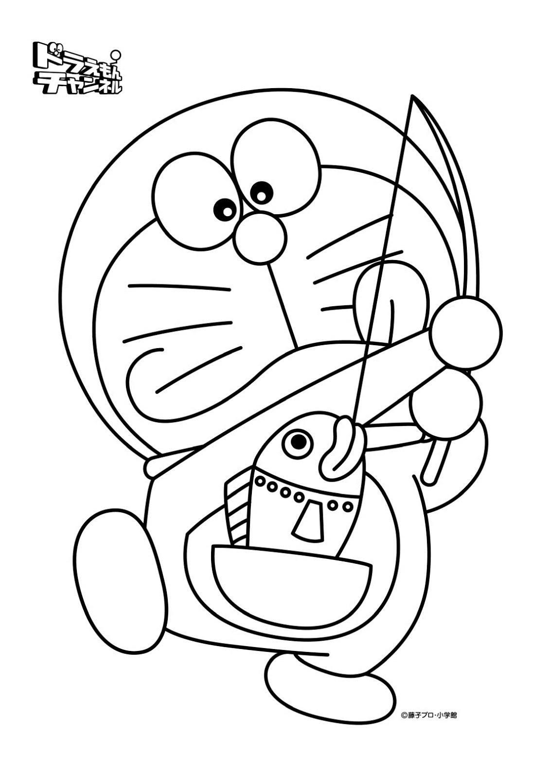 10 Mewarnai Gambar Doraemon Pemandangan Kartun Masjid Mobil Nobita
