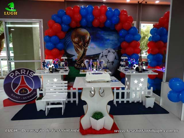 Decoração PSG - Paris Saint-Germain - Festa aniversário infantil - Barra - RJ
