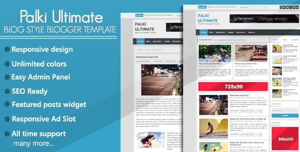 Palki Ultimate Blog Style Blogger Template
