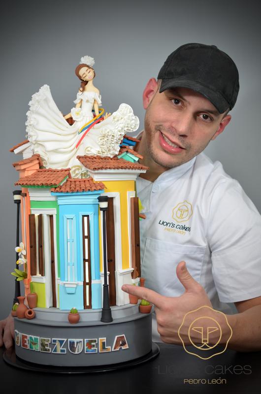 """Gâteau """"L'Âme du Venezuela"""" par Pedro León"""