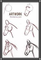 رسوم حيوانات بسيطة حصان