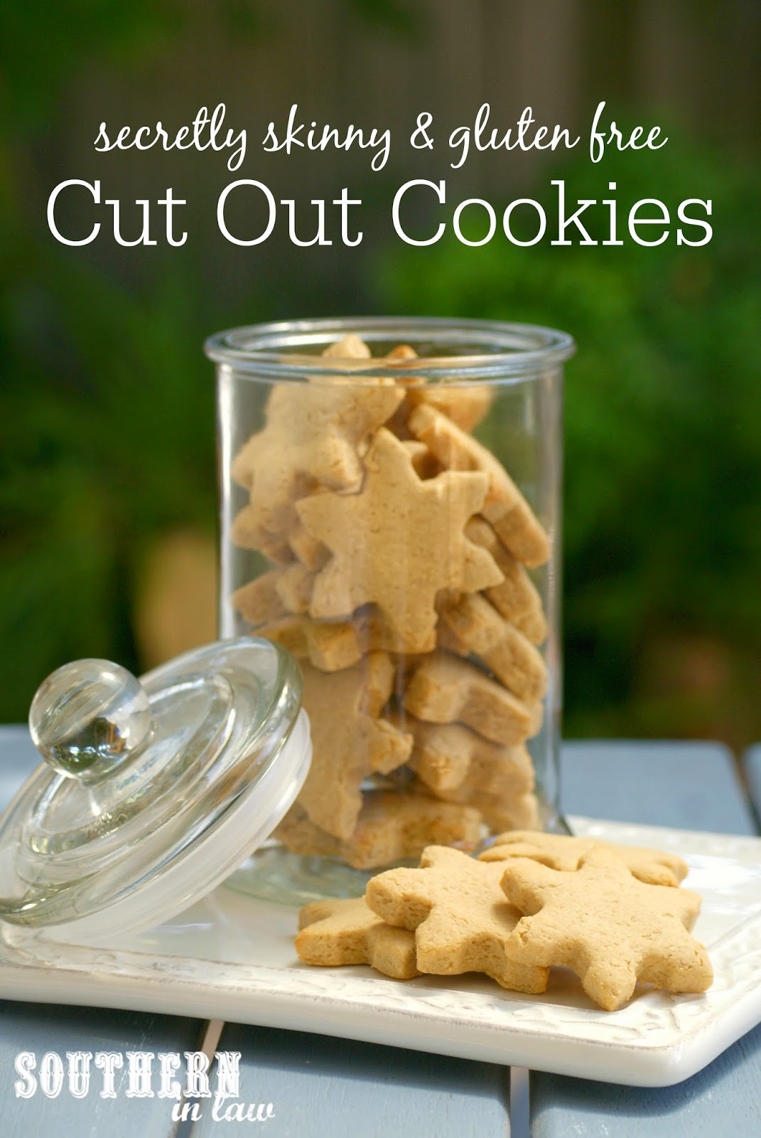 Secretly Skinny and Gluten Free Cutout Cookies Recipe - Healthy Christmas Cookies Recipes, Low Fat, Low Sugar, Gluten Free