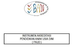 Download Gratis Instrumen Akreditasi PAUD Terbaru