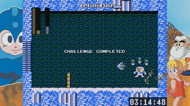 Mega Man pause glitch Thunder Beam Ice Man
