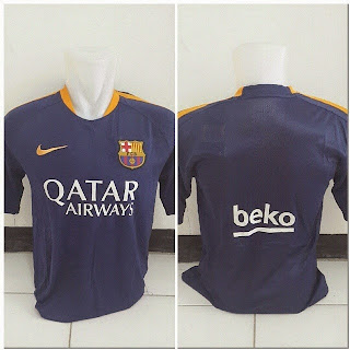 gambar detail photo Jersey training Barcelona warna ungu terbaru musim 2015/2016 kualitas grade ori made in thailand