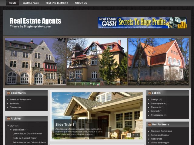 Real Estate Agents Blogger Template