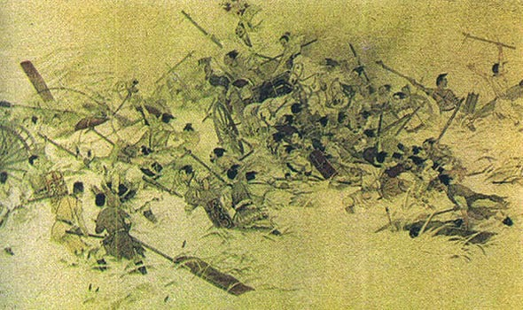 In 1122 b.c.e. Wu's forces decisively defeated the Shang king Shou at the Battle of Muye (Mu-yeh)
